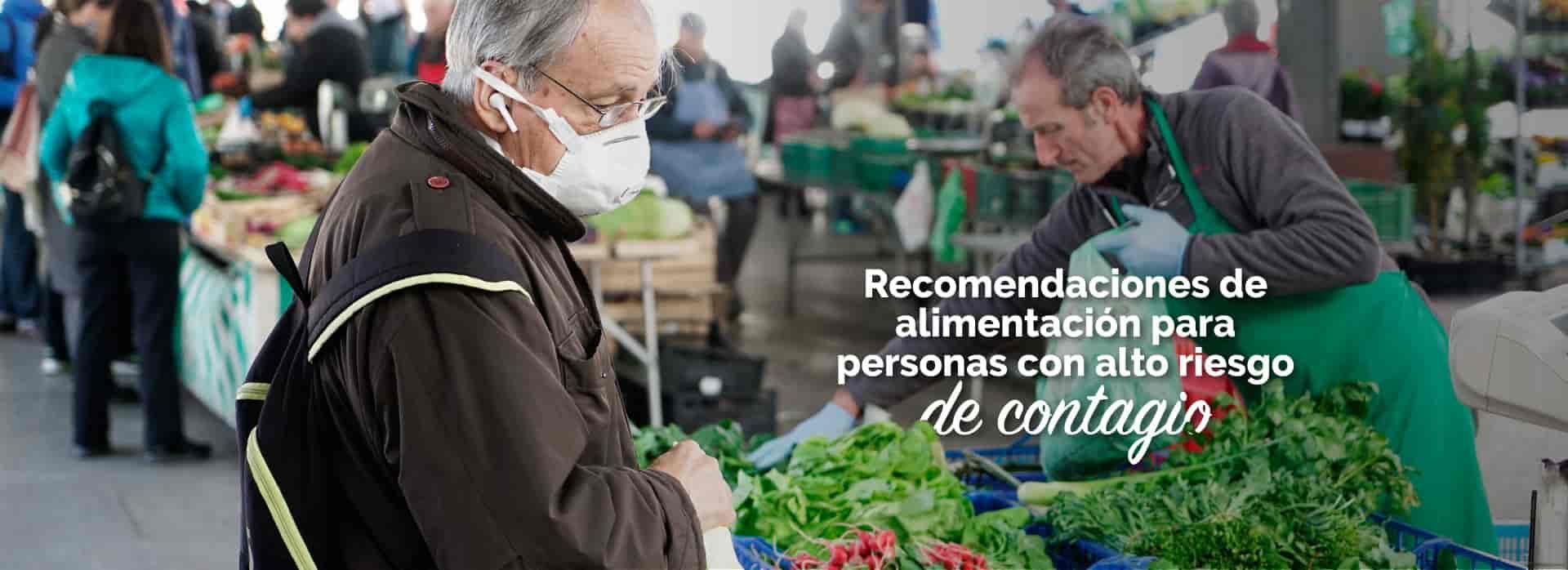 Recomendaciones de alimentación para personas riesgo de covid