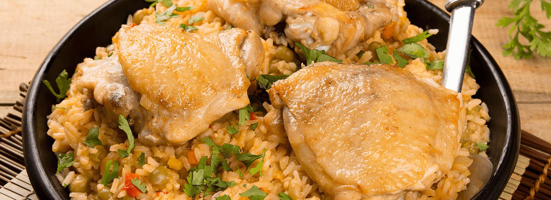 Cómo preparar arroz caldoso con contramuslos
