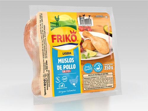 Muslos de pollo sin piel