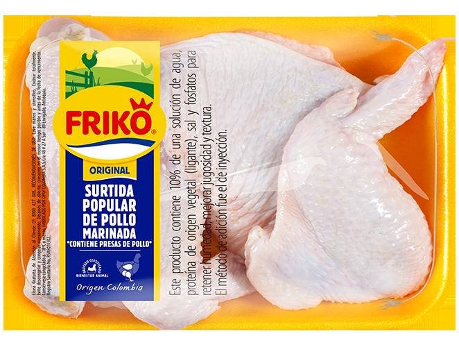 Surtida popular de pollo marinada