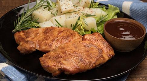 Filete de contramuslo bbq de pollo Friko
