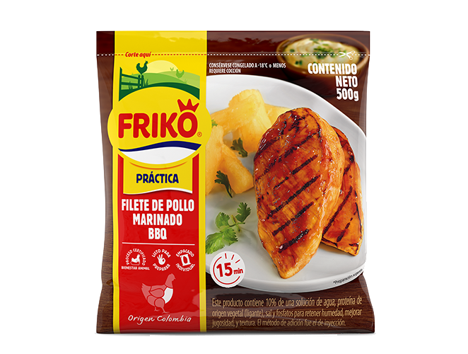 Filete de pollo BBQ Friko