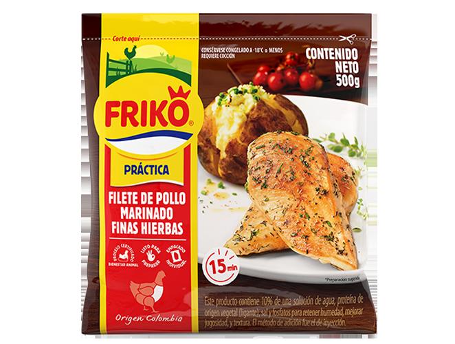 Filete de pollo en finas hierbas Friko