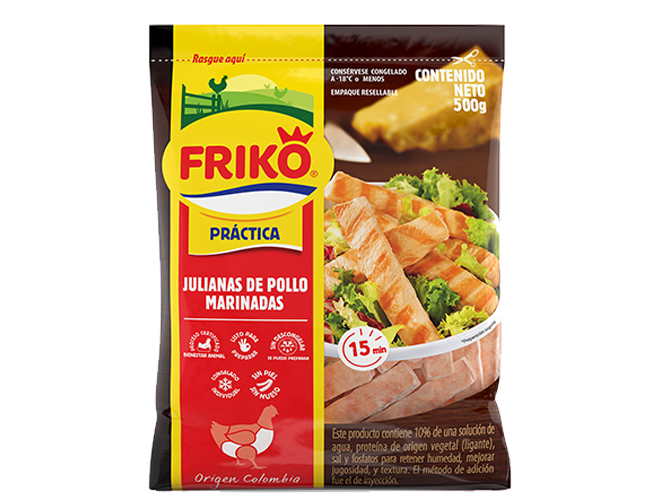 Julianas de pollo Friko