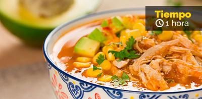 Receta de crema de tomate mexicana con pollo
