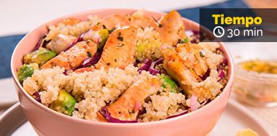 Receta de ensalada de pollo Friko y Quinoa