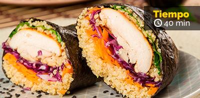 Receta de quinoa y filete de contramuslo