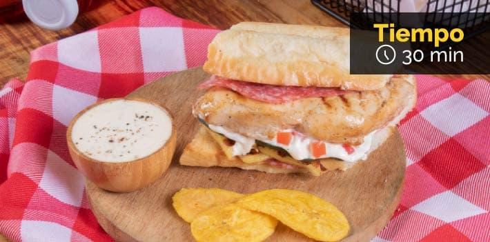 Receta Sandwich de picnic con Friko