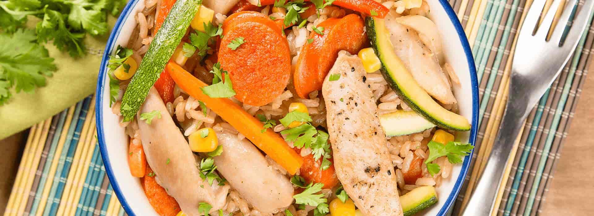 Cómo preparar arroz mixto de pollo