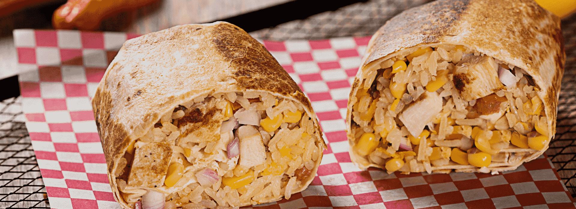 Prueba este burrito mexicano con pollo bbq