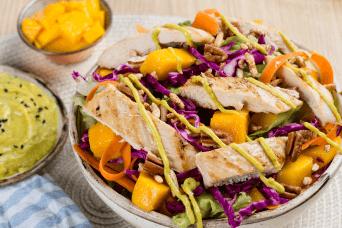 Receta de ensalada de pollo saludable