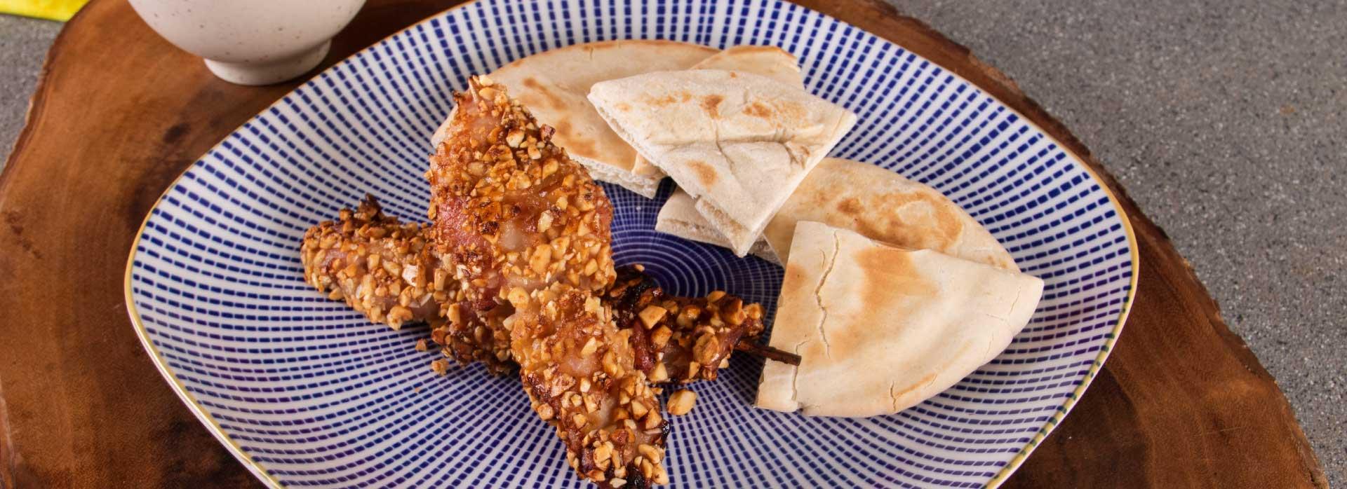 Receta de chuzos de pollo con miel y maní