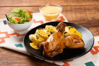 Receta de muslos de pollo en salsa huancaina