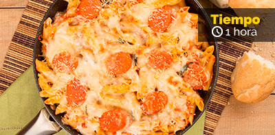 Cómo preparar pastas gratinadas con pollo