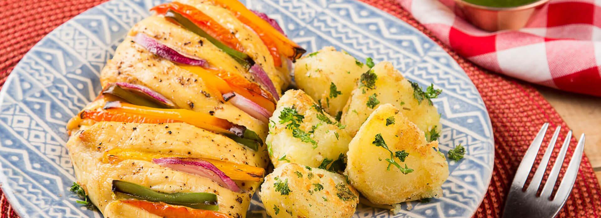 Pechuga con vegetales