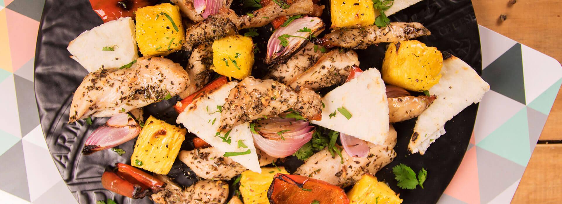 Receta de picada de pollo y vegetales