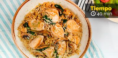 Receta de Risottode quinoa y pollo Friko