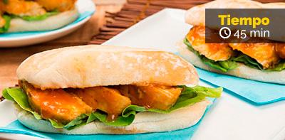 Cómo preparar sándwich de pollo