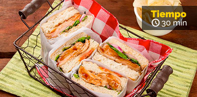 Sándwich de pollo Teriyaki