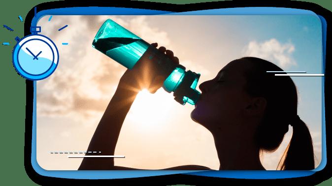 Hidratarse después de entrenar